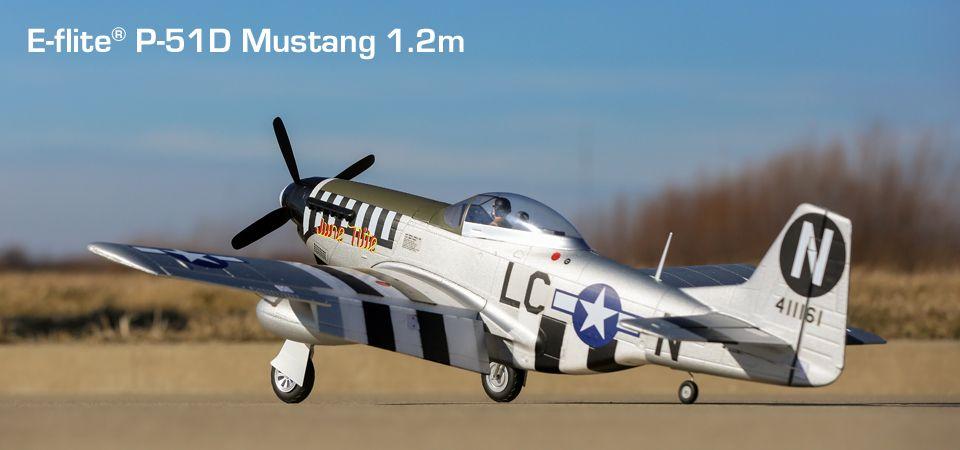 E-flite® P-51D Mustang 1.2m PNP RC Airplane