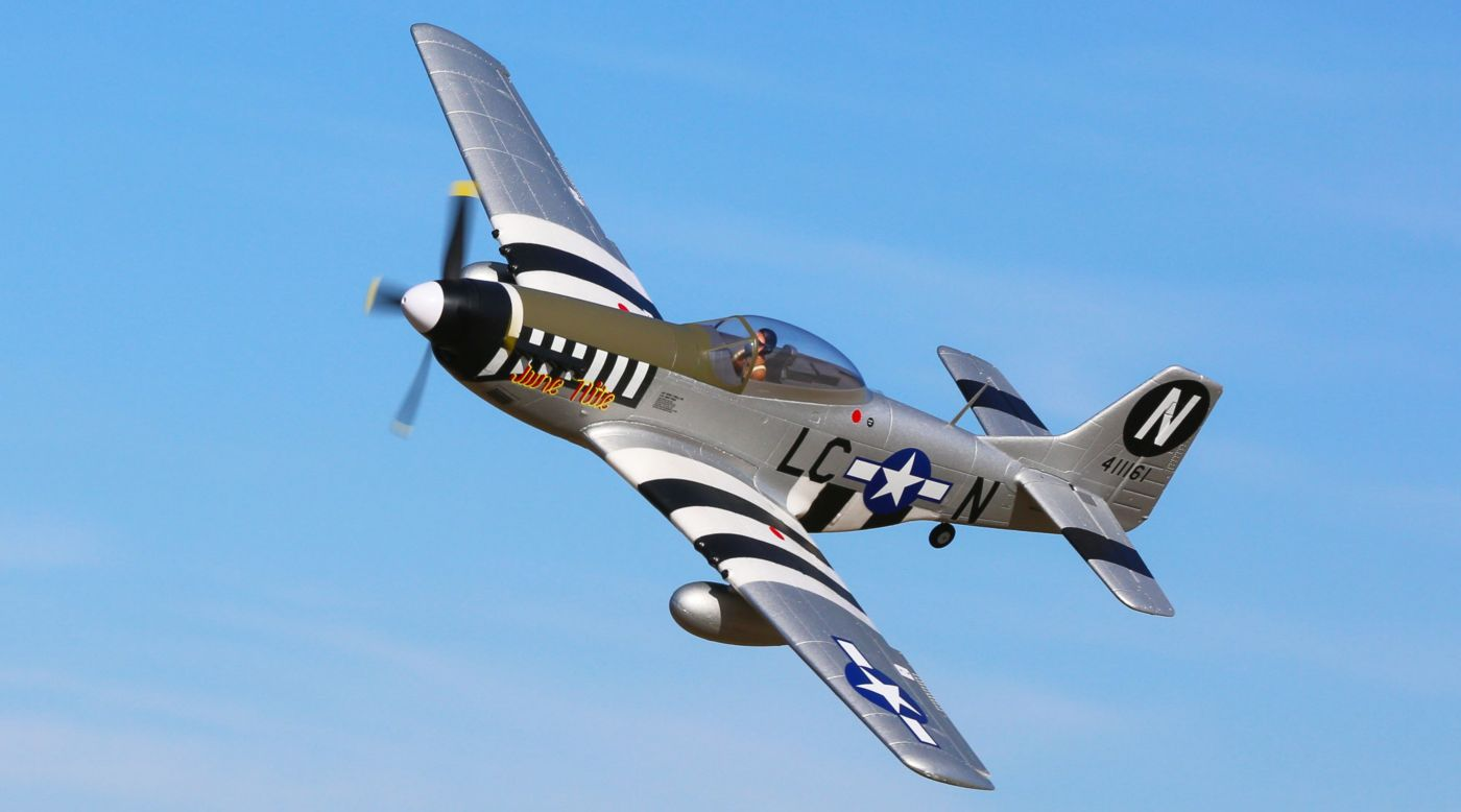 Image for P-51D Mustang 1.2m BNF Basic with AS3X and SAFE Select from HorizonHobby