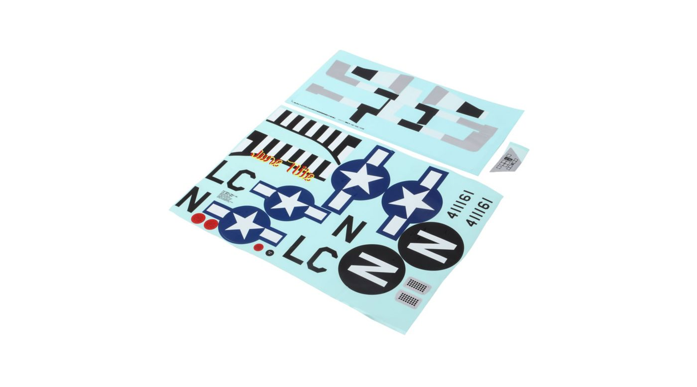 Image for Decal Sheet: P-51D 1.2m from HorizonHobby