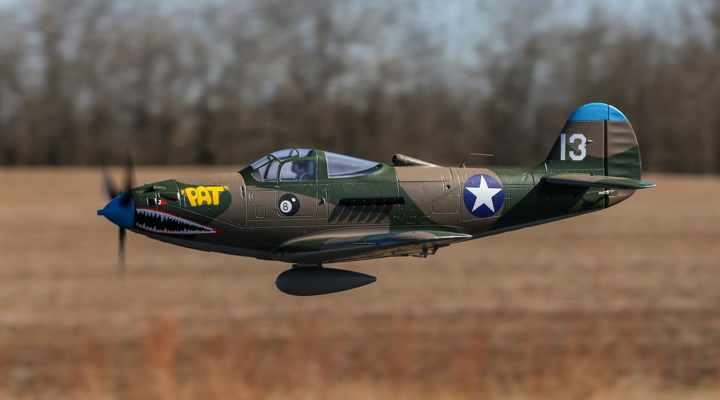 Image for P-39 Airacobra 1.2m BNF Basic with AS3X and SAFE Select from HorizonHobby