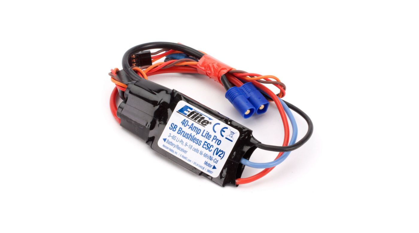 Image for 40-Amp Lite Pro Switch-Mode BEC Brushless ESC (V2) from HorizonHobby