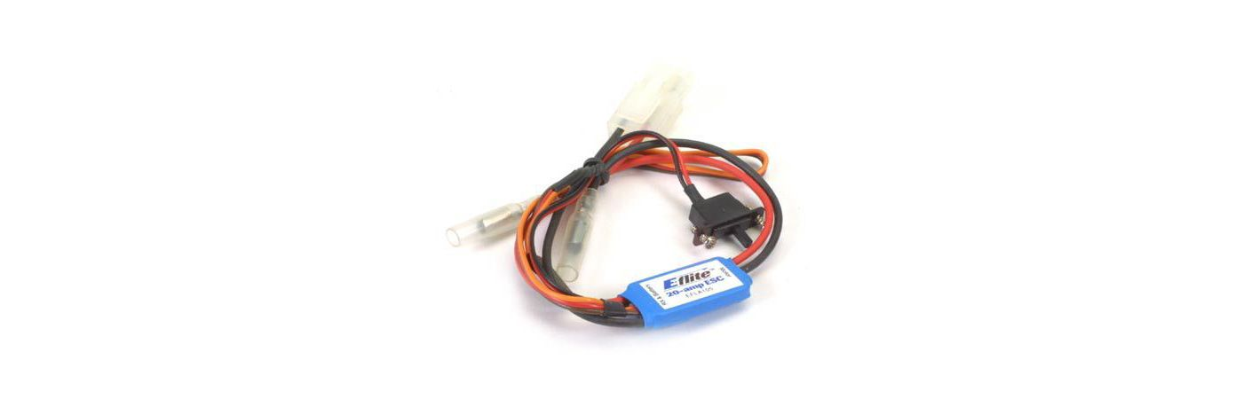 20-Amp Mini Brushed ESC with Brake  (EFLA105)