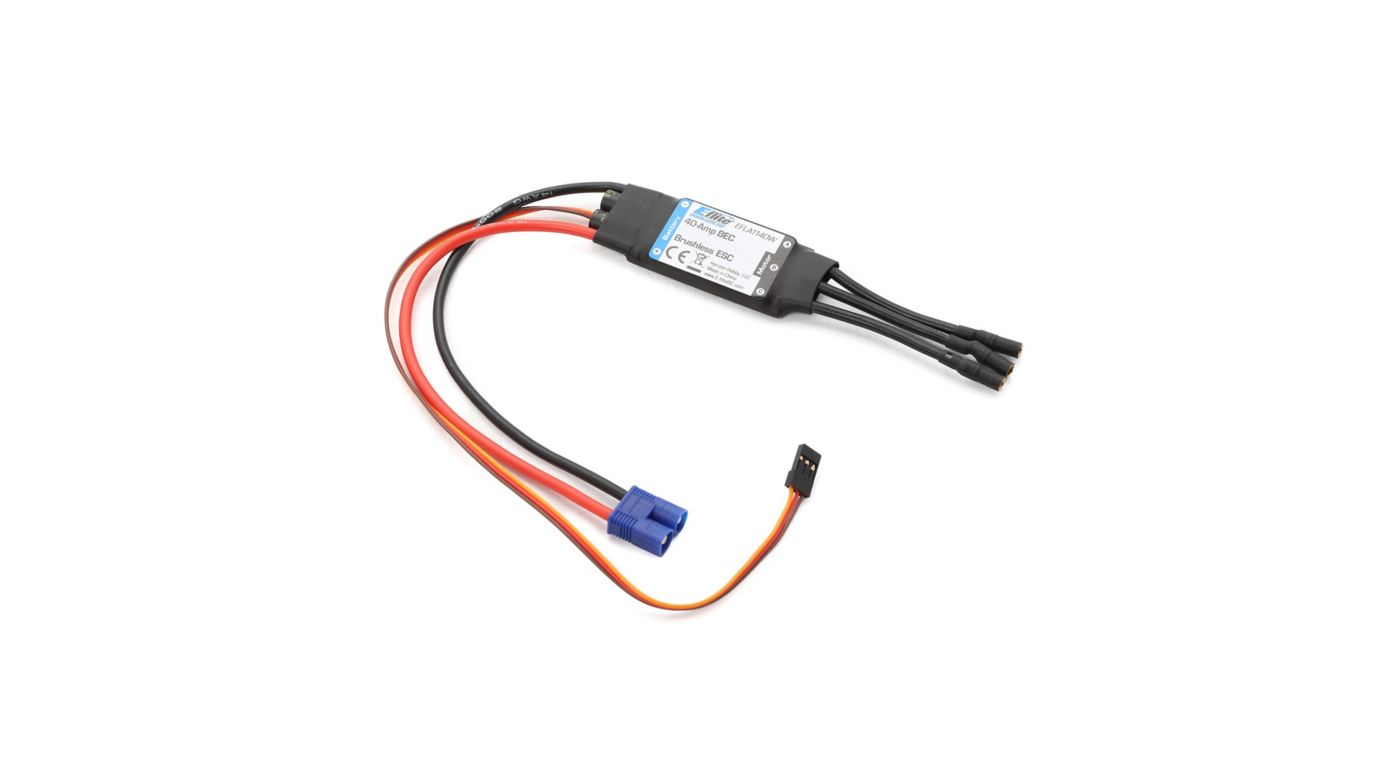 Image for 40-Amp BEC Brushless ESC: EC3 from Horizon Hobby