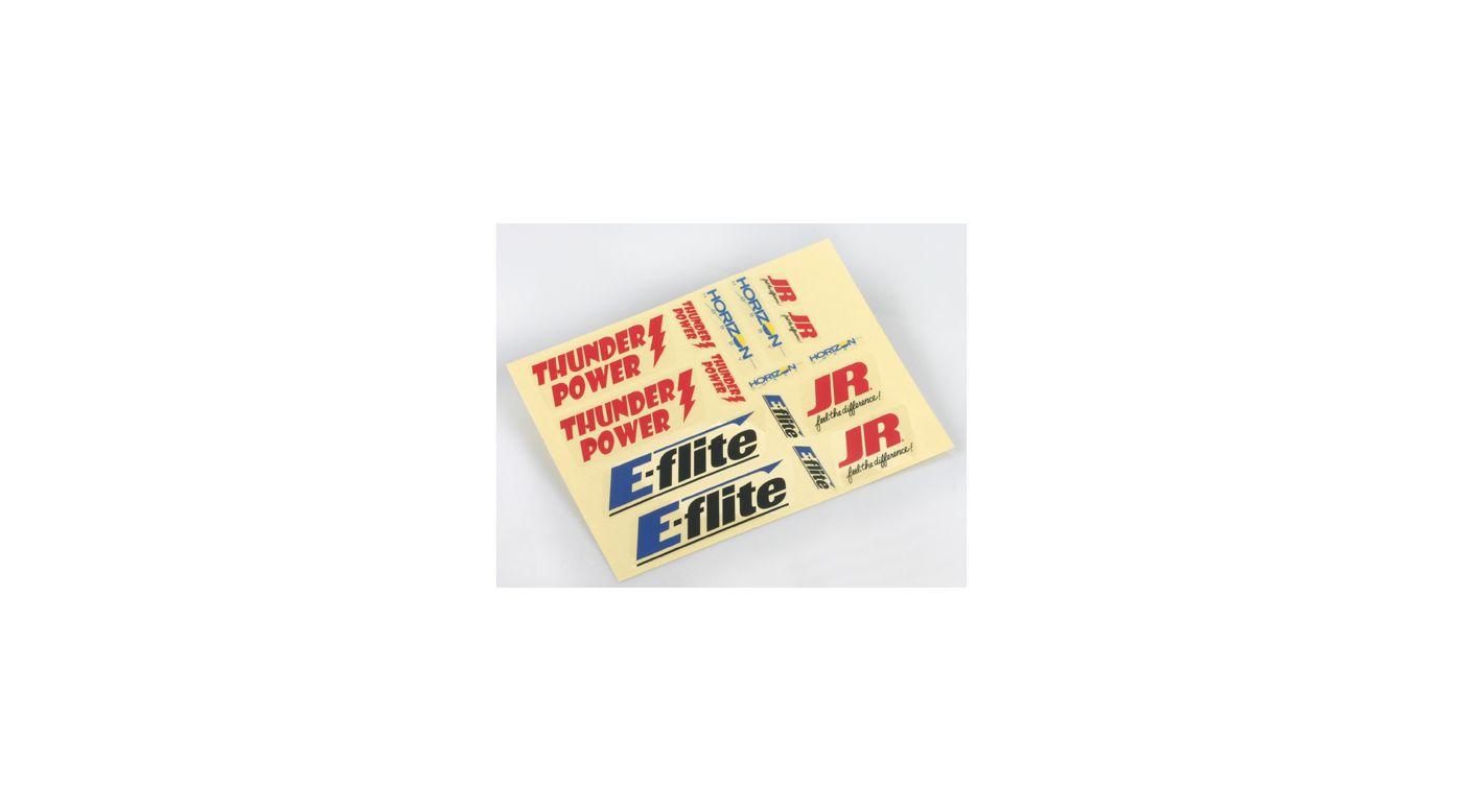 Image for E-flite/JR/Horizon Logo Decal Sheet from HorizonHobby