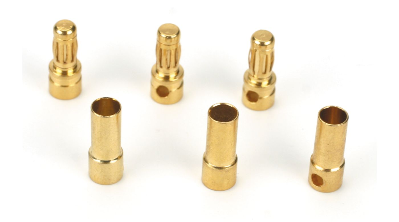 Image for Gold Bullet Connector Set, 3.5mm (3) from HorizonHobby