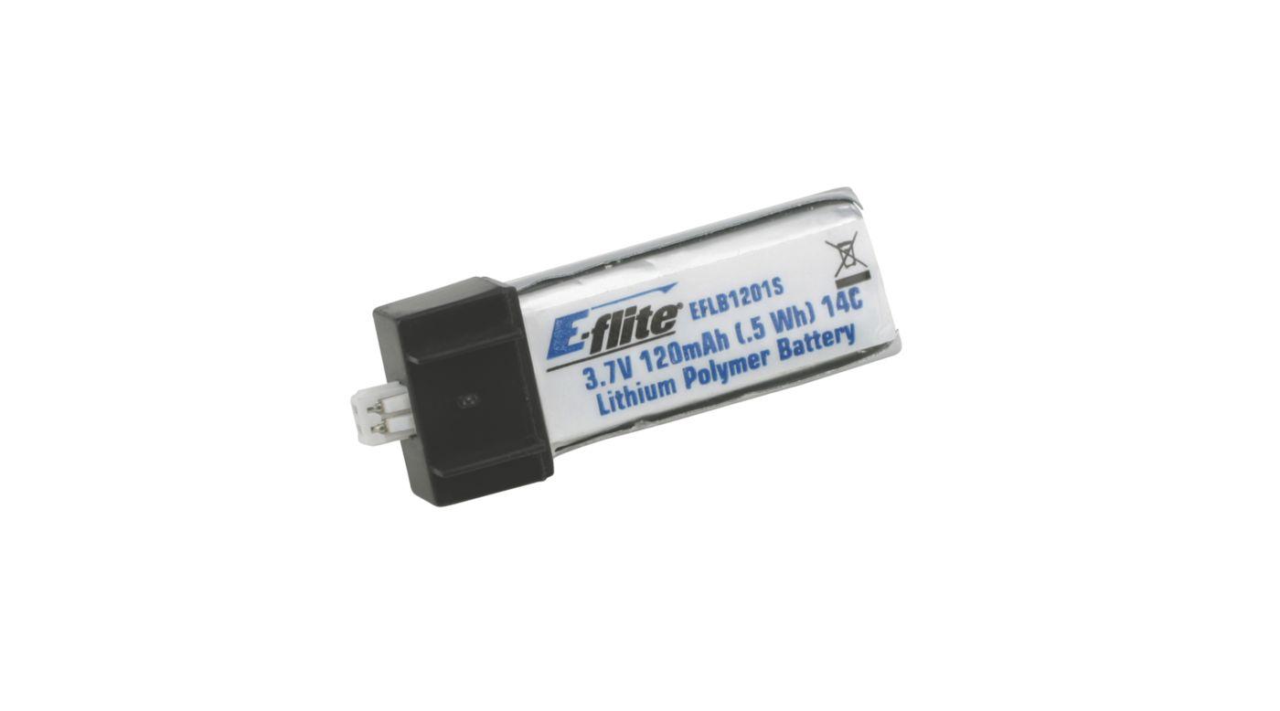 Image for 120mAh 1S 3.7V 14C Li-Po Battery from HorizonHobby