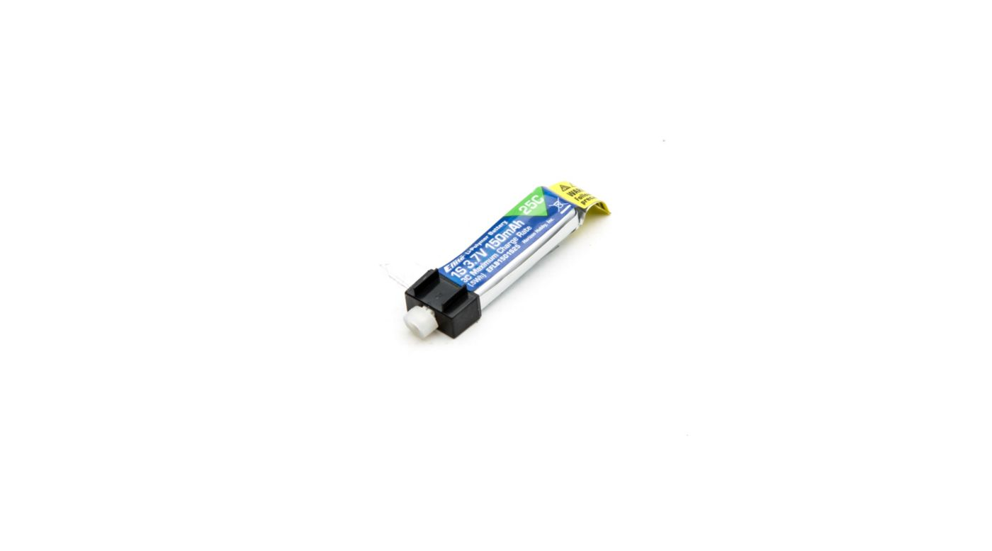 Image for 150mAh 1S 3.7V 25C LiPo Battery from HorizonHobby