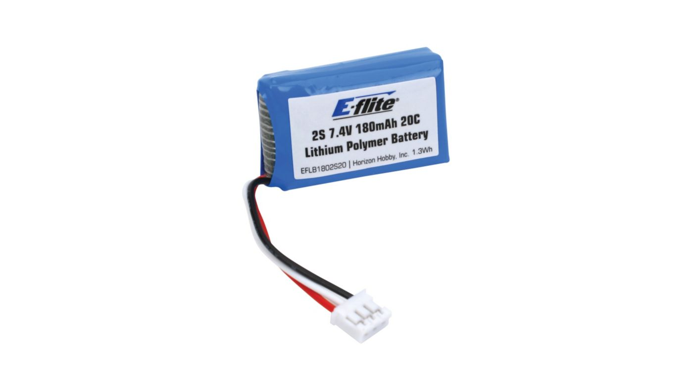Image for 180mAh 2S 7.4V 20C Li-Po, 26AWG from HorizonHobby