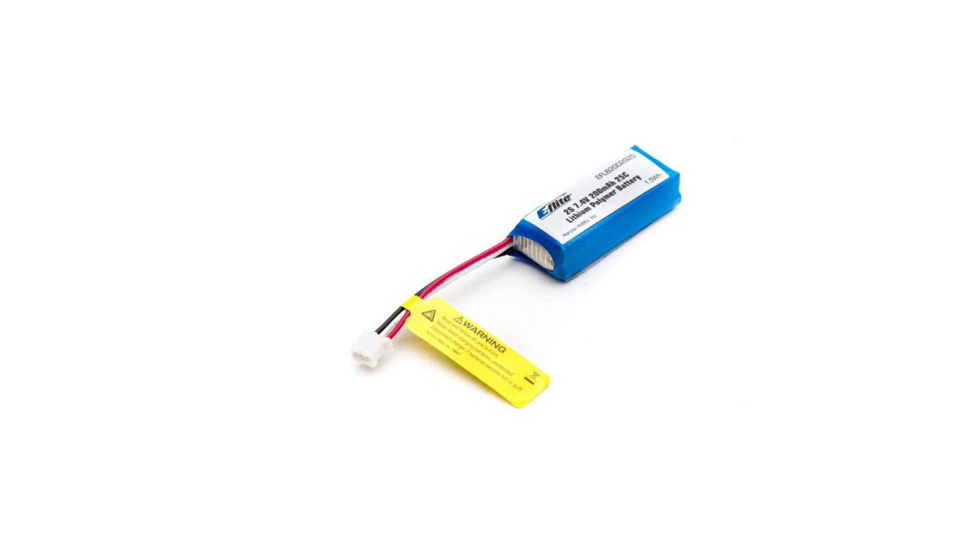 Image for 200mAh 2S 7.4V 25C Li-Po, 26AWG from HorizonHobby