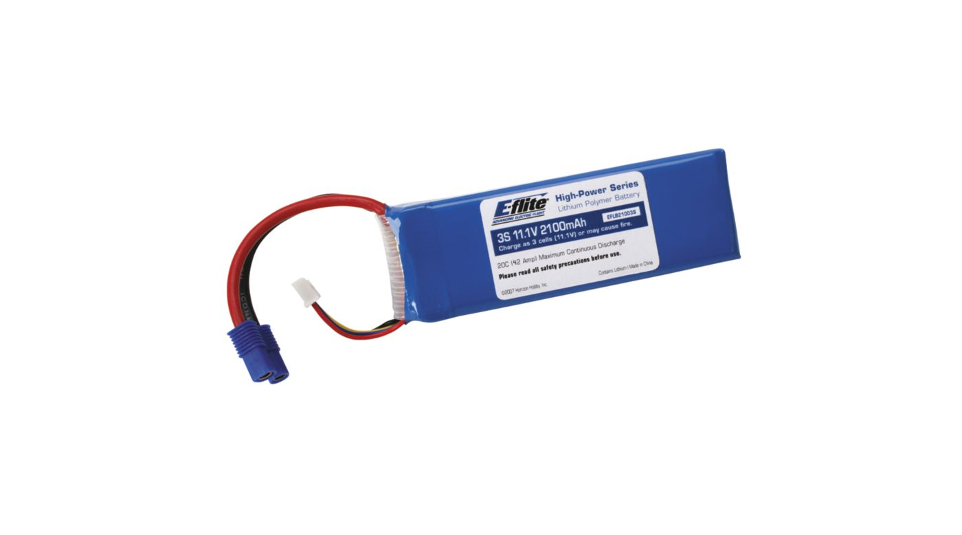 Image for 2100mAh 3S 11.1V 20C LiPo, 13AWG: EC3 from HorizonHobby