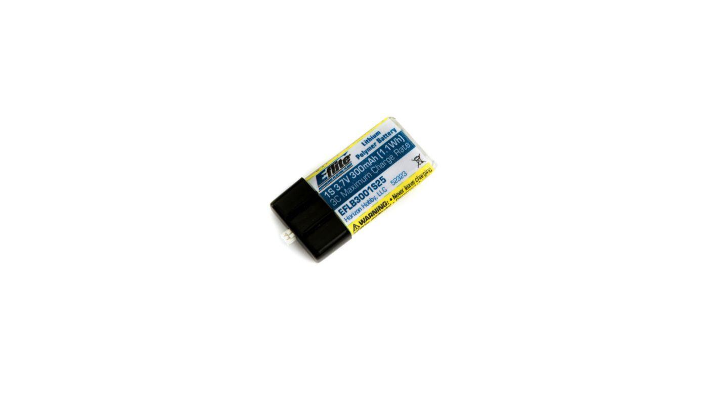 Image for 300mAh 1S 3.7V 25C LiPo Battery: PH 1.5 (Ultra Micro) from HorizonHobby