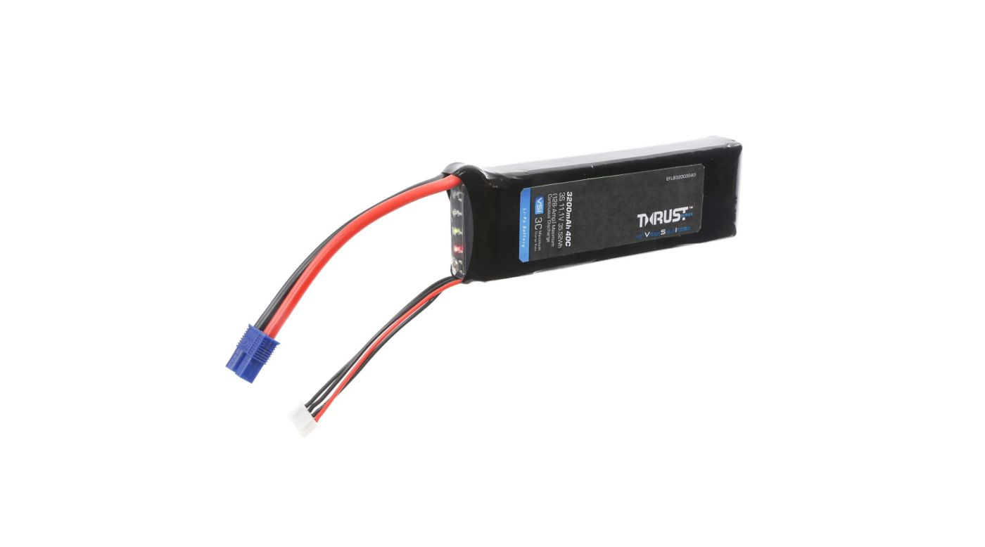 Image for 11.1V 3200mAh 3S 40C Thrust VSI LiPo Battery: EC3 from HorizonHobby