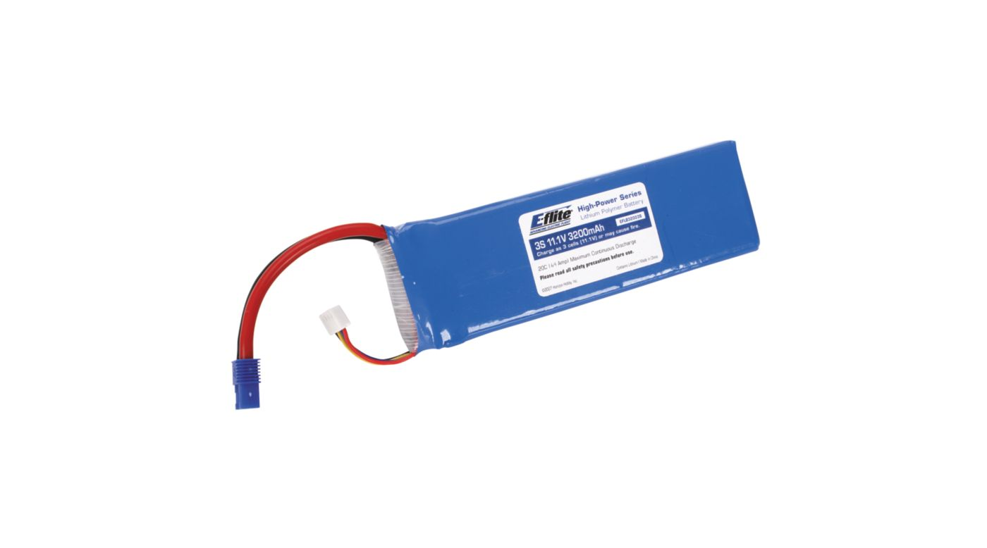 Image for 3200mAh 3S 11.1V 20C LiPo, 13AWG: EC3 from HorizonHobby