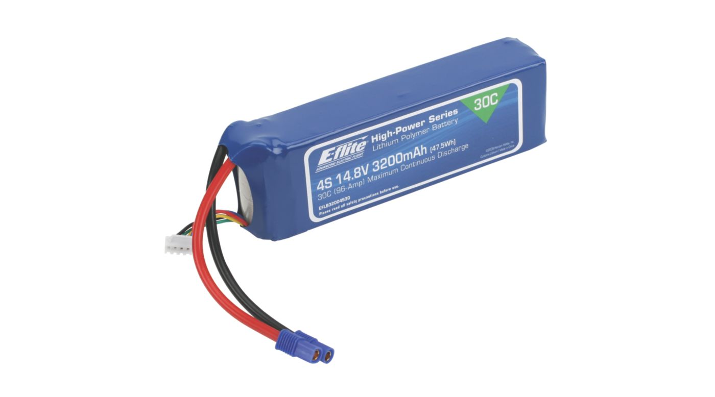 Image for 3200mAh 4S 14.8V 30C Li-Po, 12AWG: EC3 from HorizonHobby
