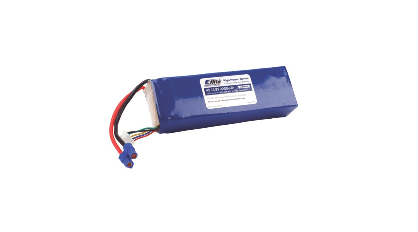 Image for 3200mAh 4S 14.8V 20C LiPo, 13AWG: EC3 from HorizonHobby