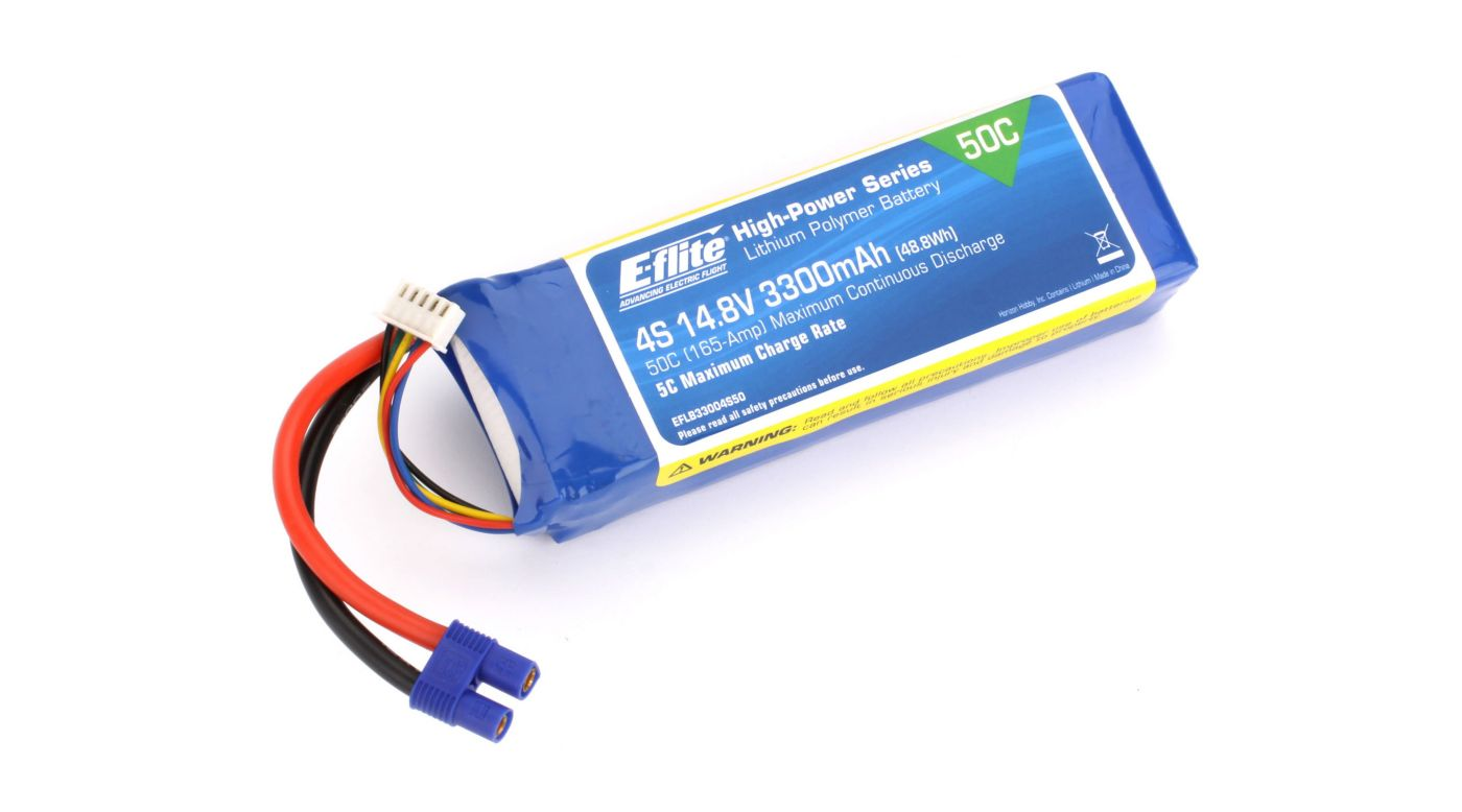Image for 3300mAh 4S 14.8V 50C LiPo, 12AWG: EC3 from HorizonHobby