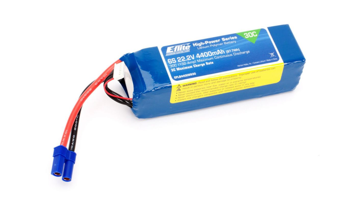 Image for 4400mAh 6S 22.2V 30C LiPo, 10AWG: EC5 from HorizonHobby