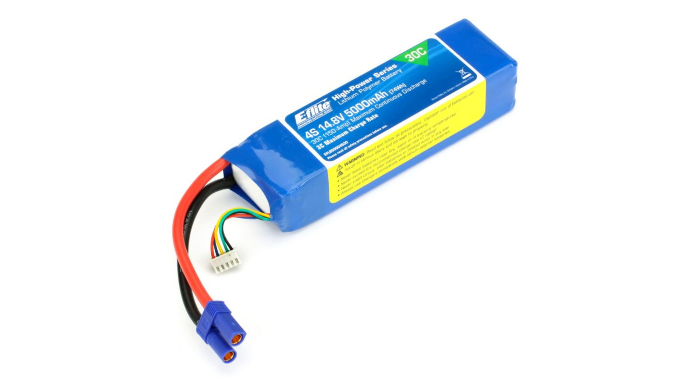 Image for 14.8V 5000mAh 30C 4S LiPo, 10AWG: EC5 from HorizonHobby