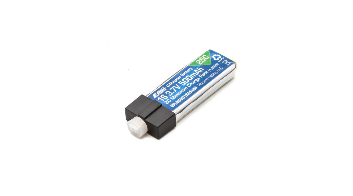 Image for 3.7V 500mAh 1S 25C LiPo, High Current UMX Connector from Horizon Hobby
