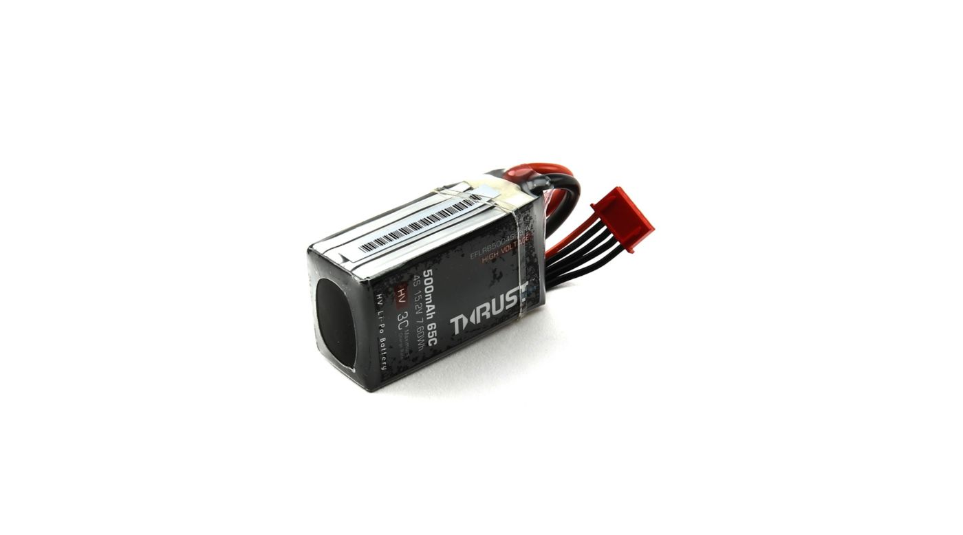Image for Thrust FPV 15.2V 500mAh 65C 4S HV LiPo Battery: XT-30 from HorizonHobby