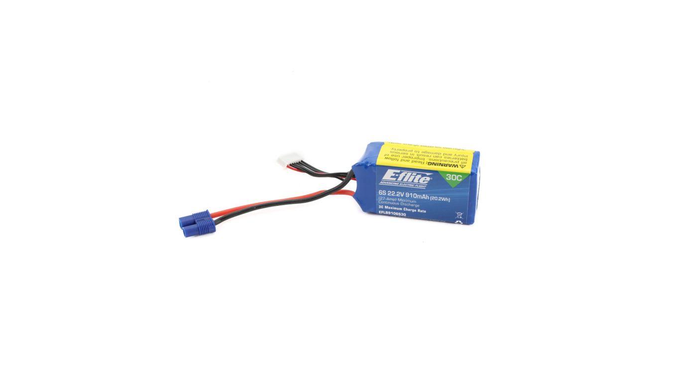 Image pour Batterie Li-Po 6S 22,2V 910mA 30C avec prise EC3 à partir de Horizon Hobby