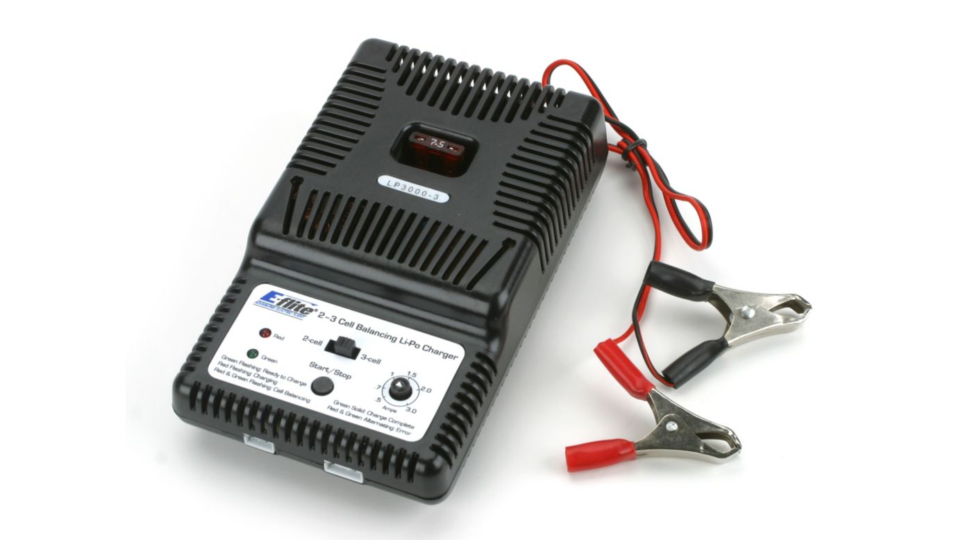Image for 2-3S LiPo Balancing DC Charger, 0.5-3A from Horizon Hobby