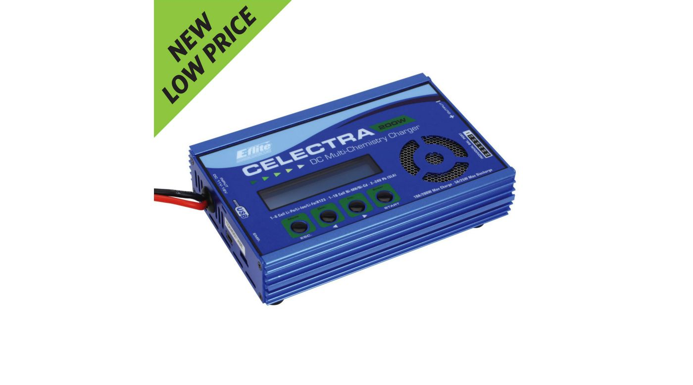 Image for Celectra 200W DC Multi-Chemistry Battery Charger from HorizonHobby