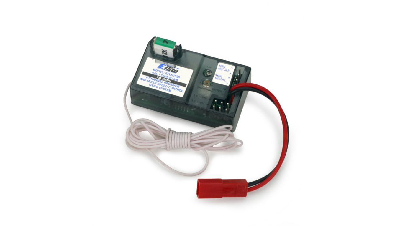 Image for 4-in-1 Receiver/ESC/Mixer/Gyro FM 72MHz: BCX from HorizonHobby