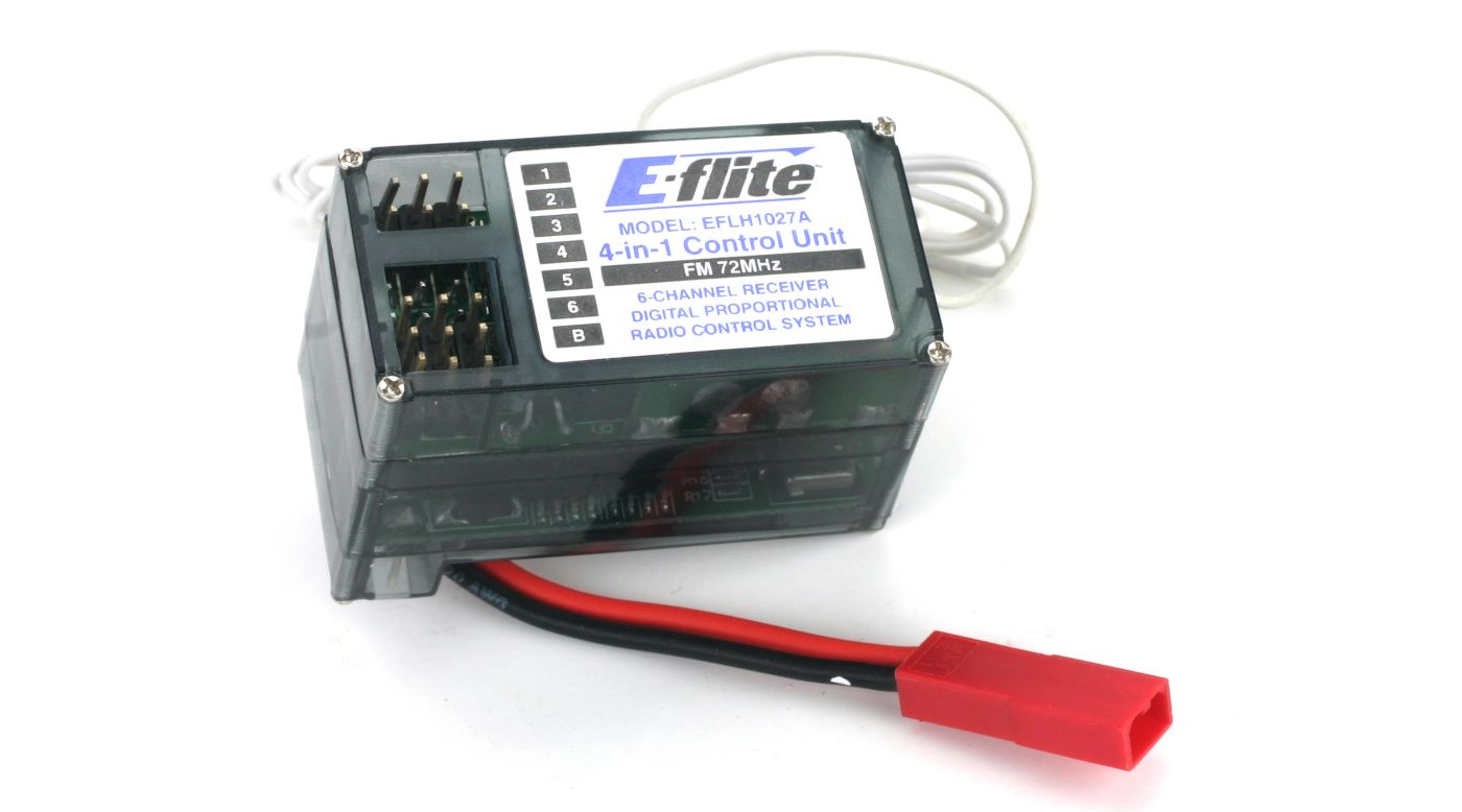 Image for 4-n-1 Control Unit, Rx/ESC/Mixer/Gyro FM 72MHz:BCP from HorizonHobby