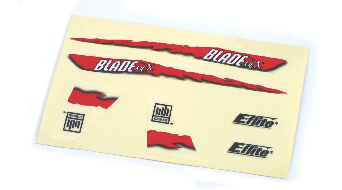 Image for Decal Sheet, Red Graphics: BMCX from HorizonHobby