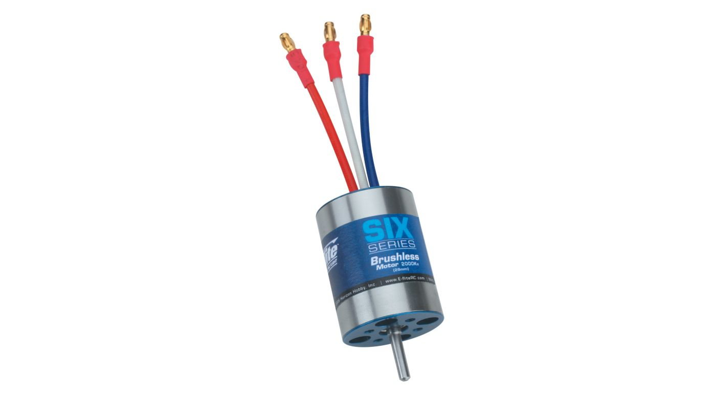 Image for Six-Series Brushless 2000Kv Motor (28mm) from HorizonHobby
