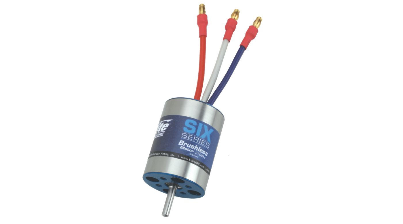 Image for Six-Series Brushless 2700Kv Motor (28mm) from HorizonHobby