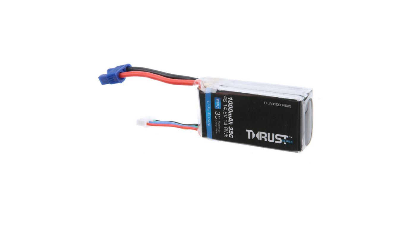 Image for Thrust 14.8V 1000mAh 35C 4S Battery: EC3 from HorizonHobby