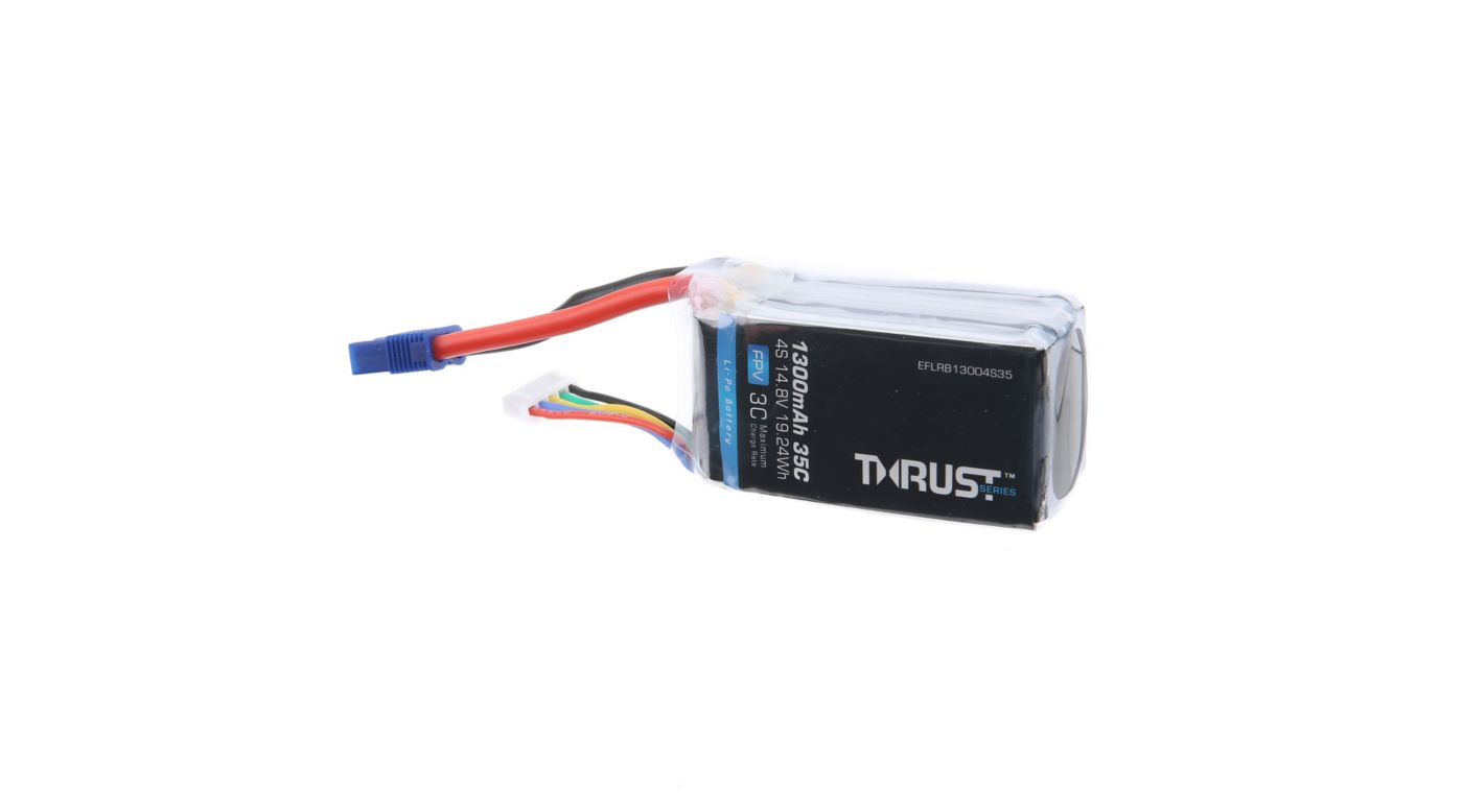 Image for Thrust 14.8V 1300mAh 35C 4S Battery: EC3 from HorizonHobby