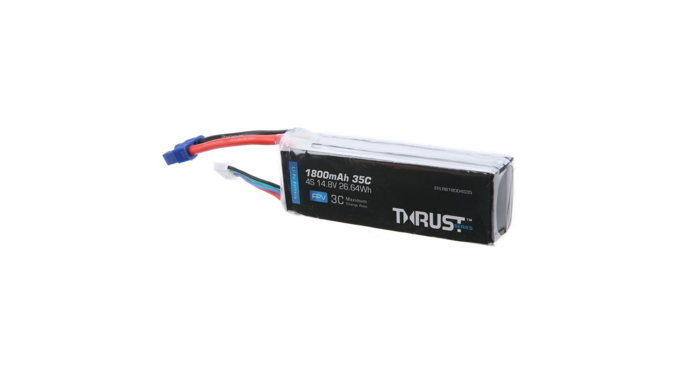 Image for Thrust 14.8V 1800mAh 35C 4S Battery: EC3 from HorizonHobby