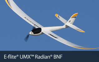E-flite UMX Radian BNF with AS3X, 730mm