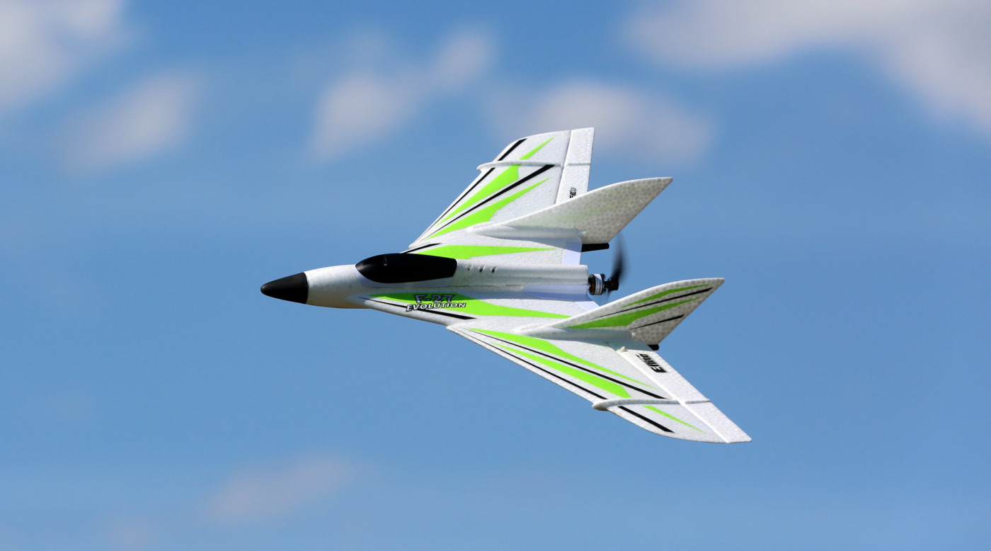 E-flite UMX F-27 Evolution BNF Basic Flying Wing with SAFE Select Technology