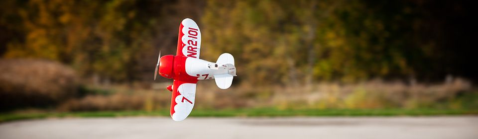 UMX Gee Bee R-2 BNF Basic RC Airplane AS3X SAFE Select