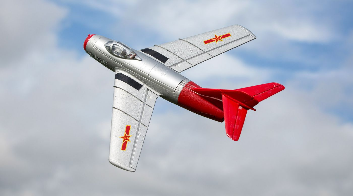 Image for UMX MiG-15 28mm EDF Jet BNF Basic with AS3X and SAFE Select, 411mm from HorizonHobby