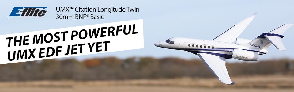 E-flite UMX Citation Longitude Twin 30mm BNF Basic
