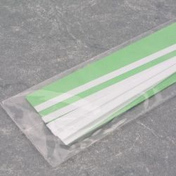 "Evergreen 108 Styrene Strip .010"" Thick 14"" Long Pkg 10 x .188"""