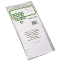 "Evergreen 9030 Styrene Sheet Plain 6 x 12"" .030"" Pkg 2"
