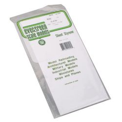 "Evergreen 9040 Styrene Sheet Plain 6 x 12"" .040"" Pkg 2"