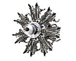 Evolution Engines - 7-Cylinder 35cc 4-Stroke Glow Radial Engine