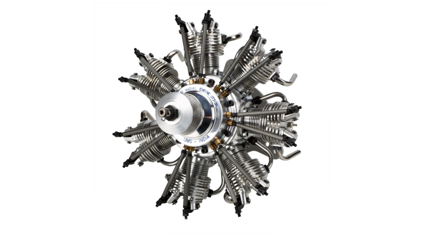 Image for 7-Cylinder 35cc 4-Stroke Glow Radial Engine from Horizon Hobby