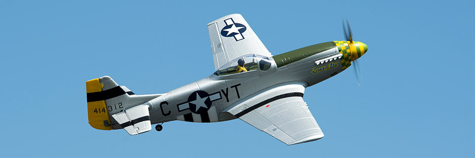Force RC P-51D Mustang 1.1m PNP