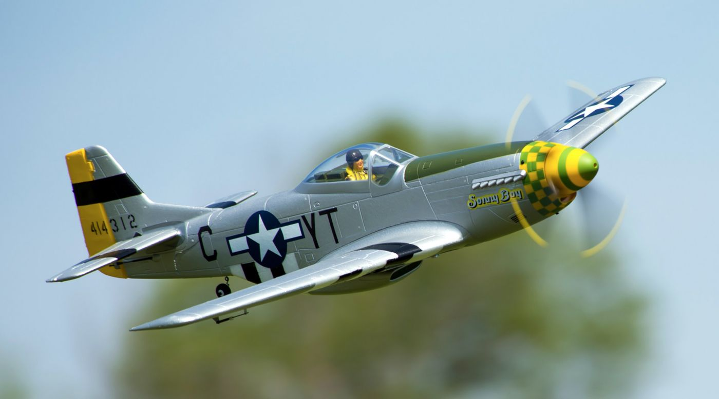 Image for P-51D Mustang 1.1m PNP from HorizonHobby