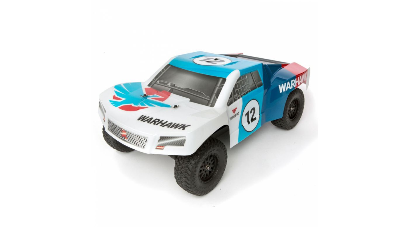 Image for 1/10 Warhawk 4WD Short Course Truck RTR: White/Blue from HorizonHobby