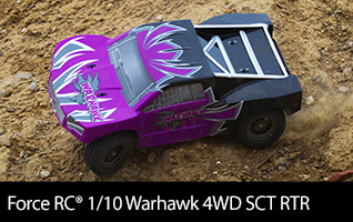 Bash with the best of them withthe Force Warhawk Short Course Truck RTR!