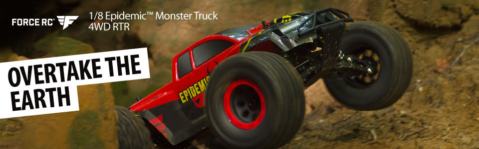 1/8-Scale Epidemic 4X4 Monster Truck RTR